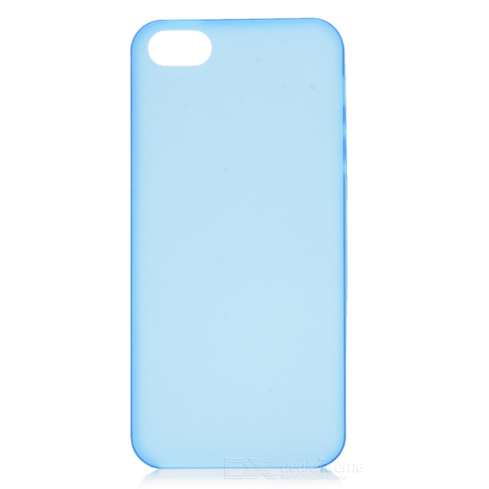 Ultra Thin Matte TPU Back Case for IPHONE 5/ 5S - Light Blue ultra thin protective tpu matte back case for iphone 5 iphone 5s white