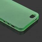 Ultrafino fosco mate TPU para IPHONE 5 / 5S - verde