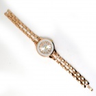 Fashion Round Crystal Dial Quartz Wrist Watch for Women - Golden + White (1 x LR626)