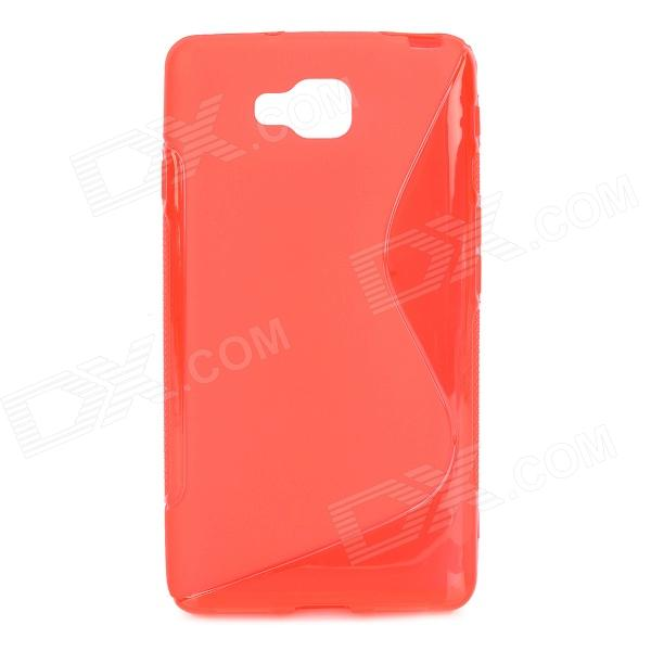 """S"" Style Anti-Slip Protective TPU Back Case for LG Optimus L9 II D605 - Red"