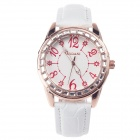 AODASI 4277G Women's Fashionable Analog Quartz Wristwatch - White + Rose Golden (1 x LR626)