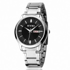 EYKI 8598 Men's Classic Business Analog Quartz Wristwatch w/ Calendar - Silver + Black