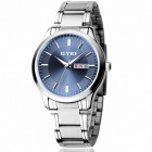 EYKI 8598 Classic Men's Business Analog Quartz Wrist Watch - Sapphire Blue + Silver (1 x 10#)