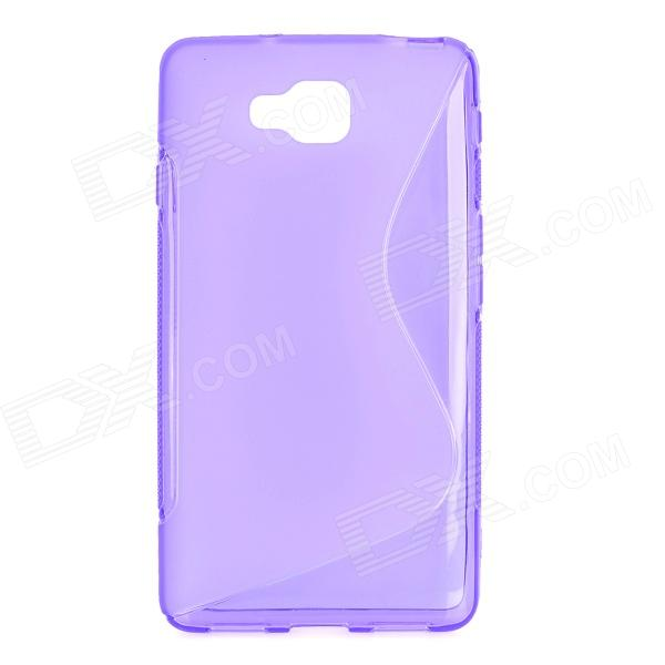 High Quality Anti-skid ''S'' Style TPU Back Case for LG Optimus L9 II / D605 - Translucent Purple itech d605 b