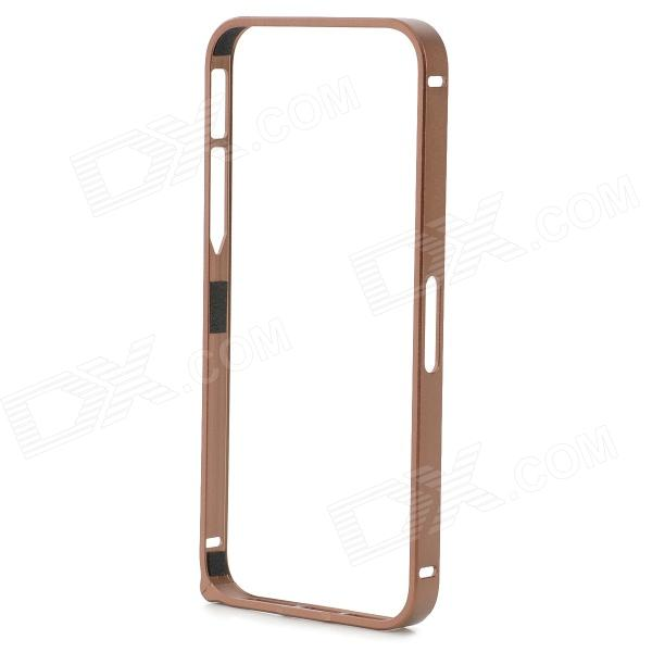 S-What Protective 0.7mm Thin Aluminum Alloy Bumper Frame Case for IPHONE 5 / 5S - Coffee durable super thin aluminum alloy bumper frame case for iphone 5 5s black