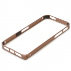 S-What Protective 0.7mm Thin Aluminum Alloy Bumper Frame Case for IPHONE 5 / 5S - Coffee