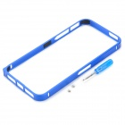 S-What Ulitra-thin 0.7mm Protective Aluminum Alloy Bumper Frame for IPHONE 5 / 5S - Blue