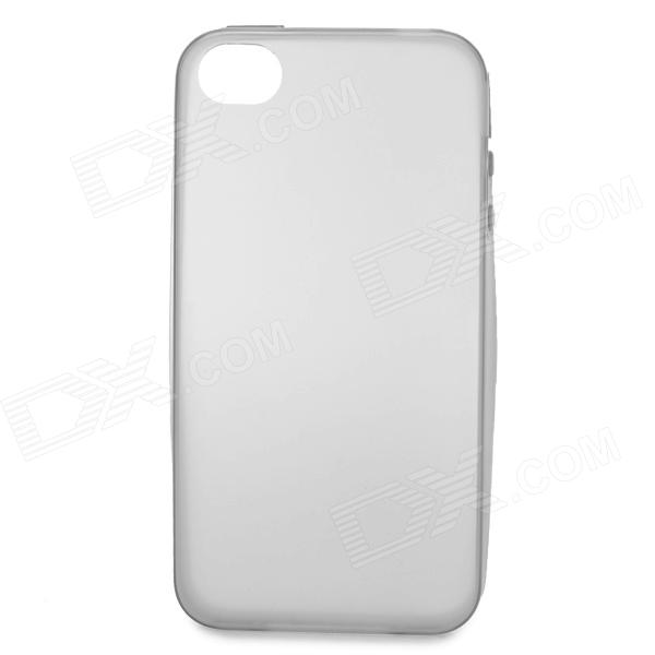 S-What .03mm Thin Protective TPU Back Case for IPHONE 4 / 4S - Grey + Transparent стоимость