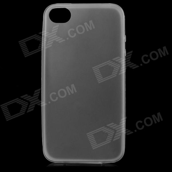 S-What .03mm Thin TPU protetora Voltar Case para IPHONE 4 / 4S - Branco + Transparente