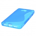 """S"" Style Anti-Slip Protective TPU Back Case for LG Optimus L9 II D605 - Blue"