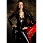 LT60 Sexy Car Model Demonstrate Long Sleeved Uniform - Black