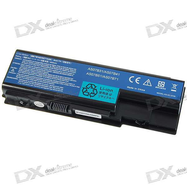 4800mAh Replacement Lithium Battery Pack for Acer TM5520/5720