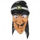 MJ002 Lustige Zwei Snaggletooth Scary Witch Mask - Orange + Schwarz + Multi-Colored