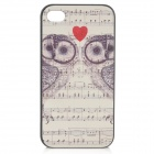 Embossed Owl Pattern Protective PC Case for IPHONE 4 / 4S