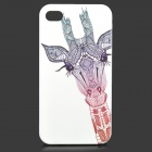 Giraffe Pattern Protective PC Back Case for IPHONE 4 / 4S - White + Multicolored
