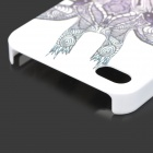 Giraffe Pattern PC Back Case for IPHONE 4 / 4S - White + Multicolored