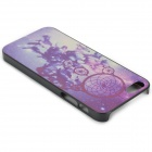 Flower Pattern PC Protective Back Case for IPONE 5 / 5S - Black + Colorful