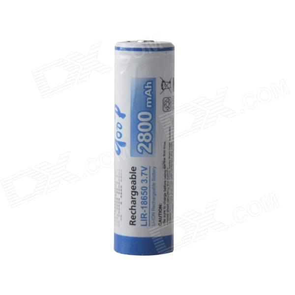 GooD Rechargeable 3.7V 2500mAh 18650 Li-ion Battery - White + Blue