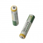 BTY rechargeable 1.2V 200mAh ni-mh piles AAA - vert + blanc (2 pcs)