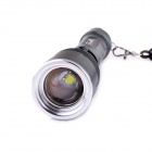 UltraFire KX-008 LED 5-Mode 600LM Rotational Focusing Flashlight w/ Strap - Celandine Green