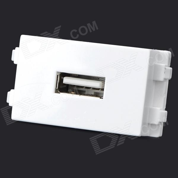 DIY 128 Cabo USB Connector Recetcacle Module - White + Verde