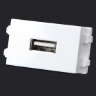 DIY 128 USB Cable Recetcacle Connector Module - White + Green