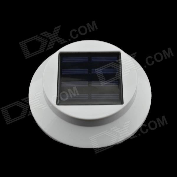 Multi-functional Solar Powered 0.3W 3-LED White Garden Light - White + Black