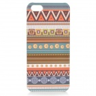 Protective Plastic Case for IPHONE 5 / 5S - White + Orange