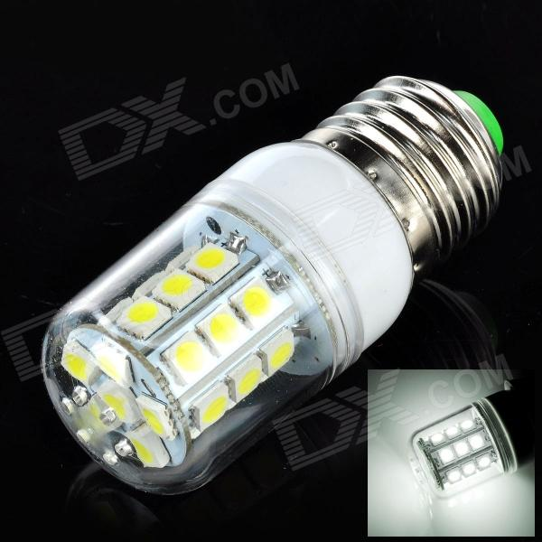 E27 3W 300lm 6500K 27 x LED White Light Lamp - White + Silver (AC 220~240V)