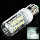 E27 5W 450lm 6500K 80-SMD 3528 LED White Light Bulb - White + Silver (AC 220~240V)