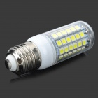E27 7W 600lm 6500K 69-SMD 5050 LED White Light Bulb - White + Transparent (AC 220~240V)