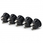 14020906 DIY 3-mode Rocker Switch - White + Black (5 PCS)