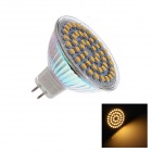 W2 MR16 GU5.3 3W 120lm 2700K 48 SMD 3528 LED Warm White Light Lamp Bulb - White+ Silver (DC 12V)