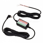 24V / 12V to 5V Car DVR Power Bank Voltage Monitoring Cable - Black