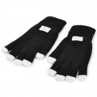 3-Color 3-LED Light Show Gants - noir + blanc