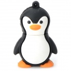 Cute Penguin Style USB 2.0 Flash Drive - Black + Orange (32G)