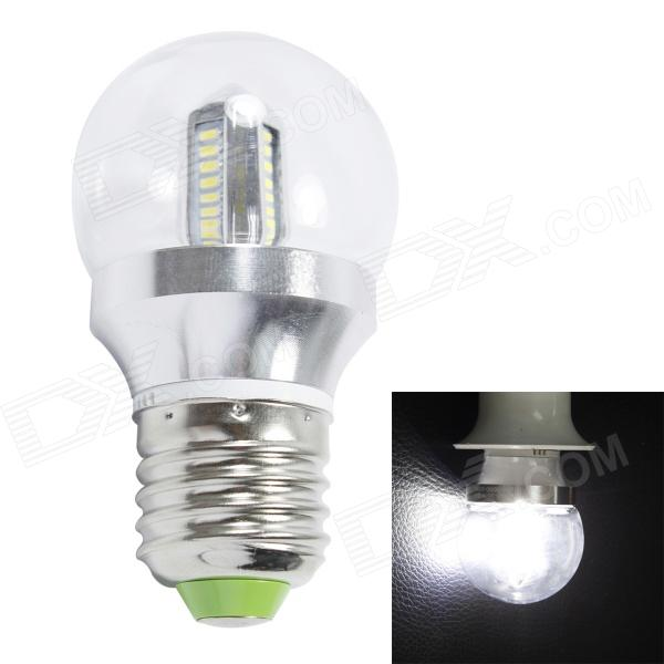 E27 4W 300lm 6000K 32-SMD 3014 LED White Light Bulb - Sliver