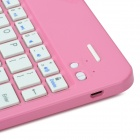 K553 360 Degree Rotatable Cover Bluetooth v3.0 64-Key Keyboard for IPAD AIR - Pink