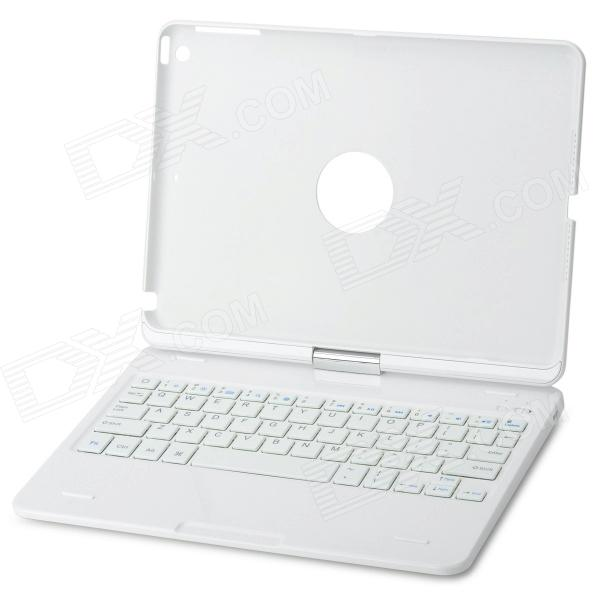 K553 360 Degree Rotatable Cover Bluetooth v3.0 64-Key Keyboard for IPAD AIR - White
