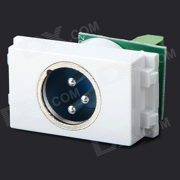 DIY 128 Multifunctional 3-pin Microphone / Speaker Connector Module - White