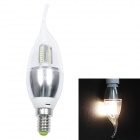 E14 4W 260LM 2700K 32-3014 SMD LED Warm White Candles Pull Taillight - Sliver (85~265V)