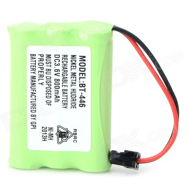 BT-446 3.6V 650mAh Ni-MH Rechargeable AAA Battery for Phone - Green + White 2pcs lot sm4151