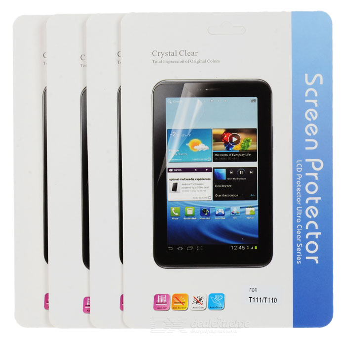 Protective Clear Screen Protector for Samsung Galaxy Tab 3 Lite T110 - Transparent (5 PCS)