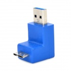 USB 3.0 to Micro B Male Revolution 90 Degree Adapter - Blue