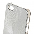 Stylish Sun Pattern Protective Aluminum Alloy Back Case for IPHONE 5 / 5S - Silver