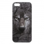 C200003 Animal Series Wolf Style Protective Plastic Back Case for IPHONE 5 / 5S - Grey + White