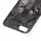 C200003 Animal Series Case Loup style de protection en plastique pour l'iPhone 5 / 5S - gris + blanc