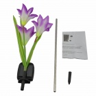 Solar Powered LED Lily Flower Garden Light - Purple