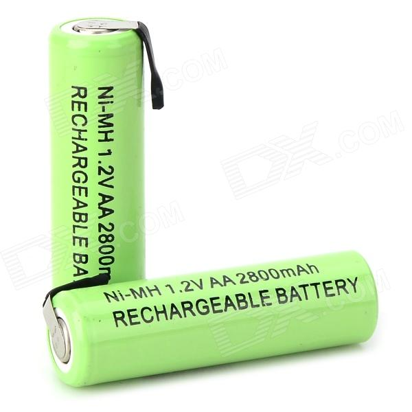 1.2V 2300mAh Rechargeable Ni-MH AA Battery - Grass Green (2 PCS) аккумуляторы hr06 aa duracell ni mh 1300 mah 2шт