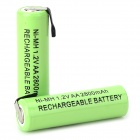 1.2V 2300mAh Rechargeable Ni-MH AA Battery - Grass Green (2 PCS) - Batteries Electrical and Tools